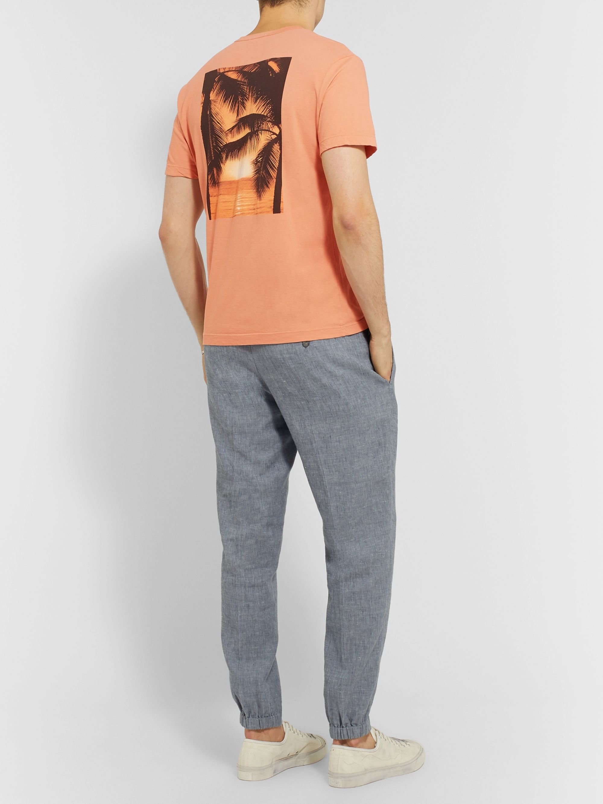 James Perse Printed Cotton-Jersey T-Shirt