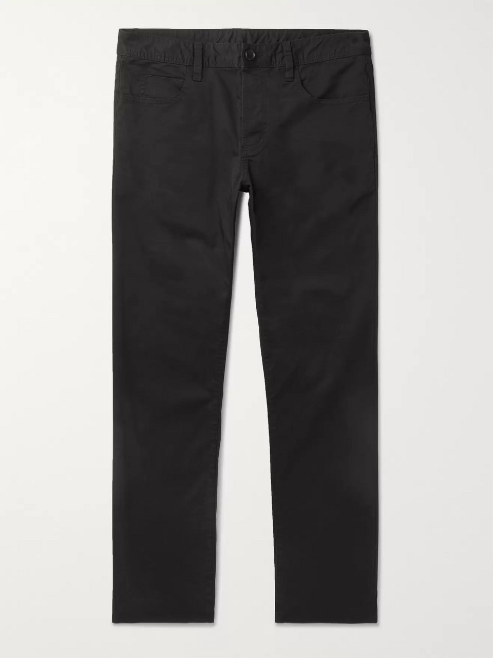 James Perse Black Slim-Fit Cotton-Twill Trousers