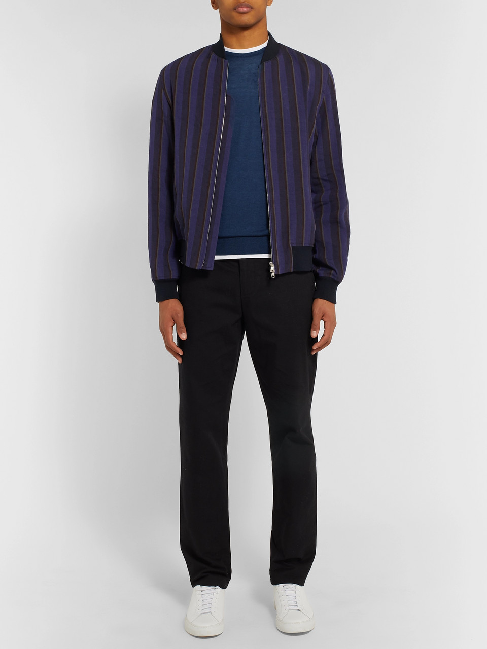 John Smedley Theon Slim-Fit Cotton and Cashmere-Blend Sweater