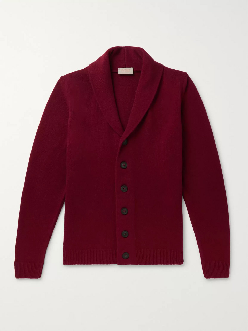 John Smedley Patterson Shawl-Collar Wool and Cashmere-Blend Cardigan