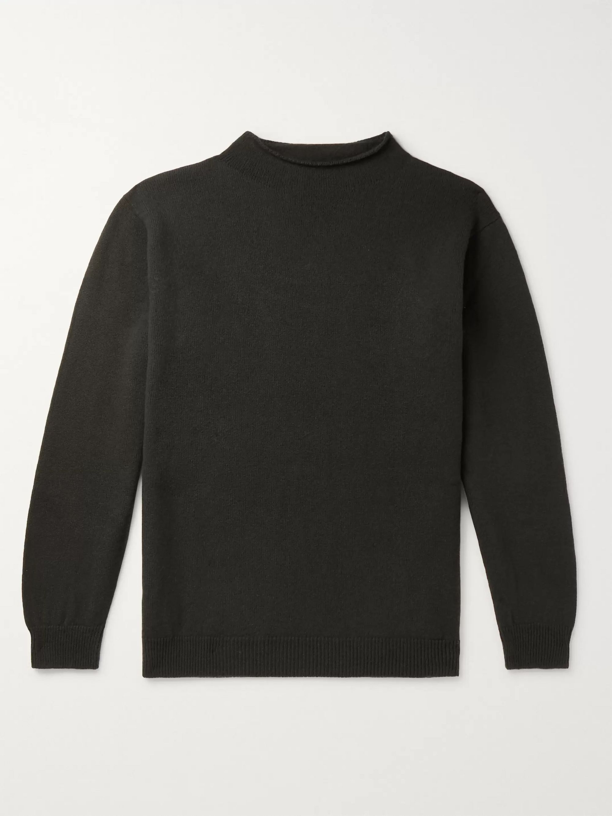 Margaret Howell Merino Wool Mock-Neck Sweater