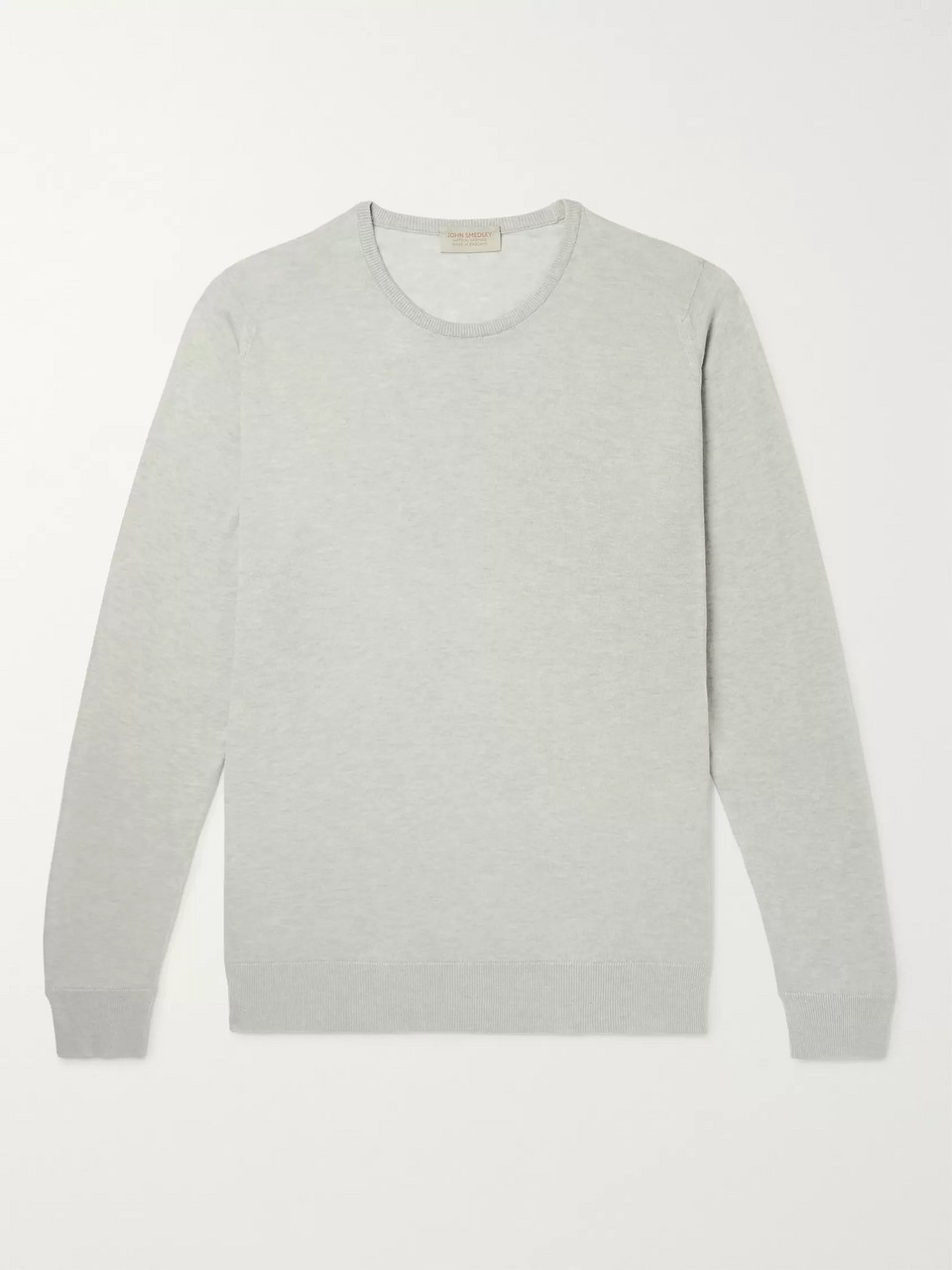 John Smedley Slim-Fit Mélange Sea Island Cotton and Cashmere-Blend Sweater