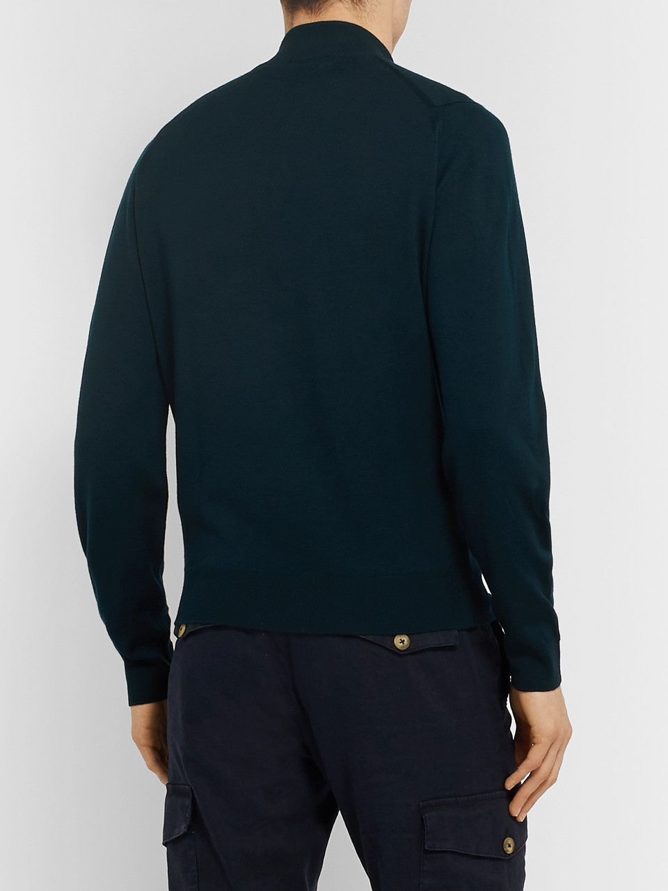 John Smedley Tapton Slim-Fit Merino Wool Half-Zip Sweater