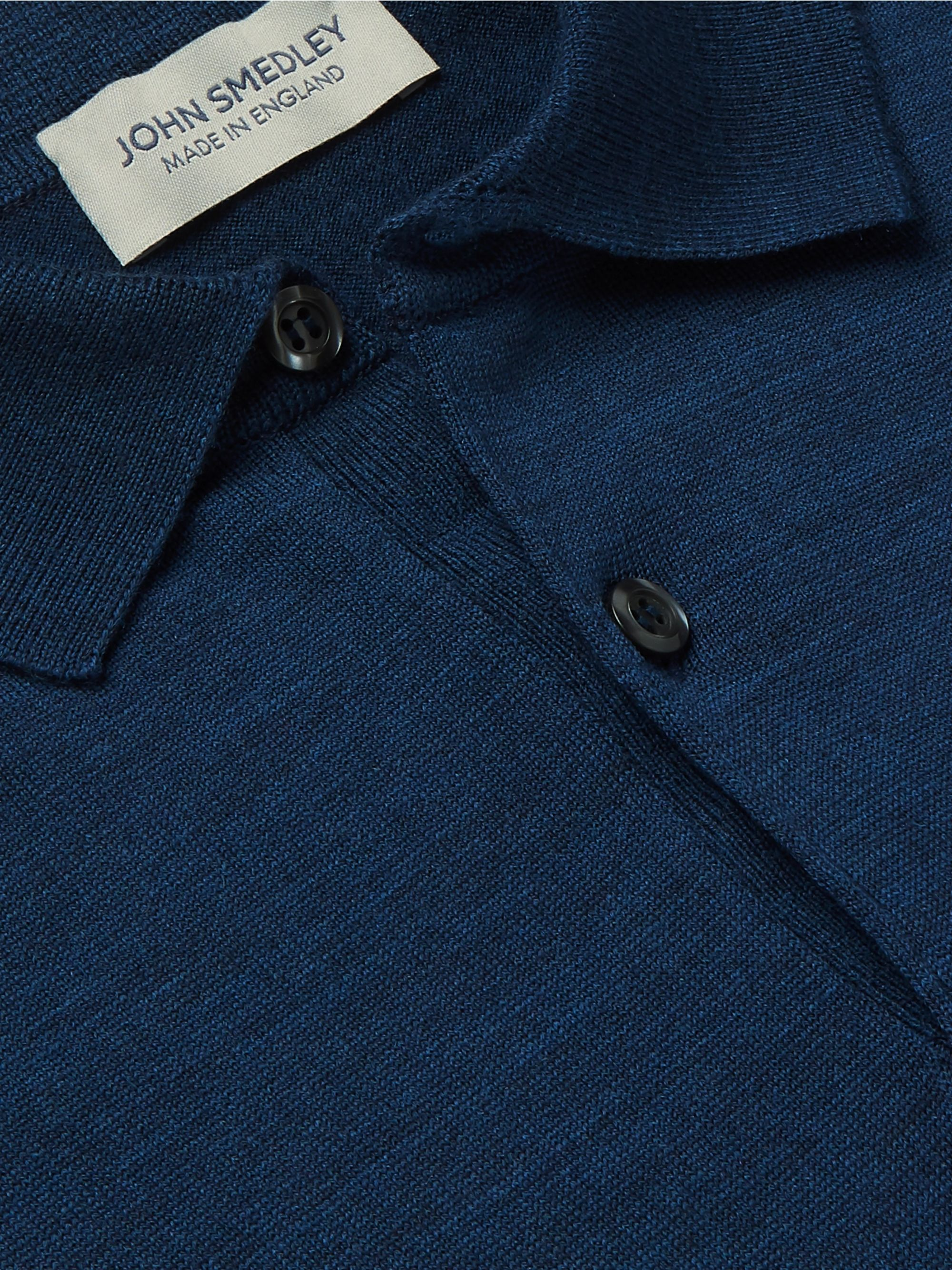 John Smedley Payton Slim-Fit Wool Polo Shirt