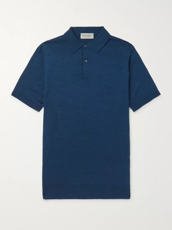 John Smedley Payton Slim-Fit Merino Wool Polo Shirt