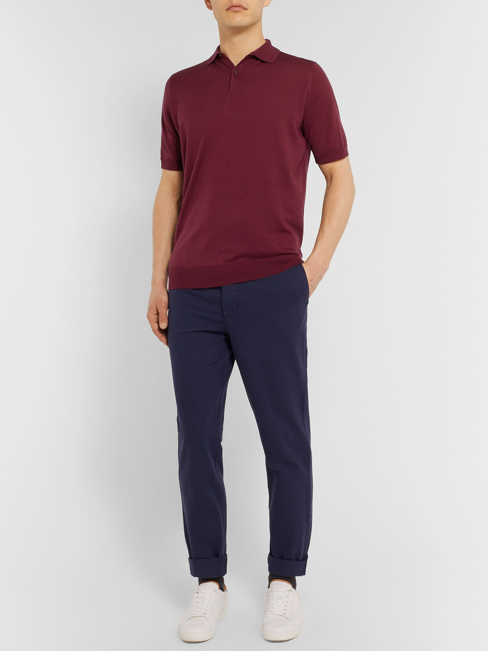 John Smedley Slim-Fit Virgin Wool Polo Shirt