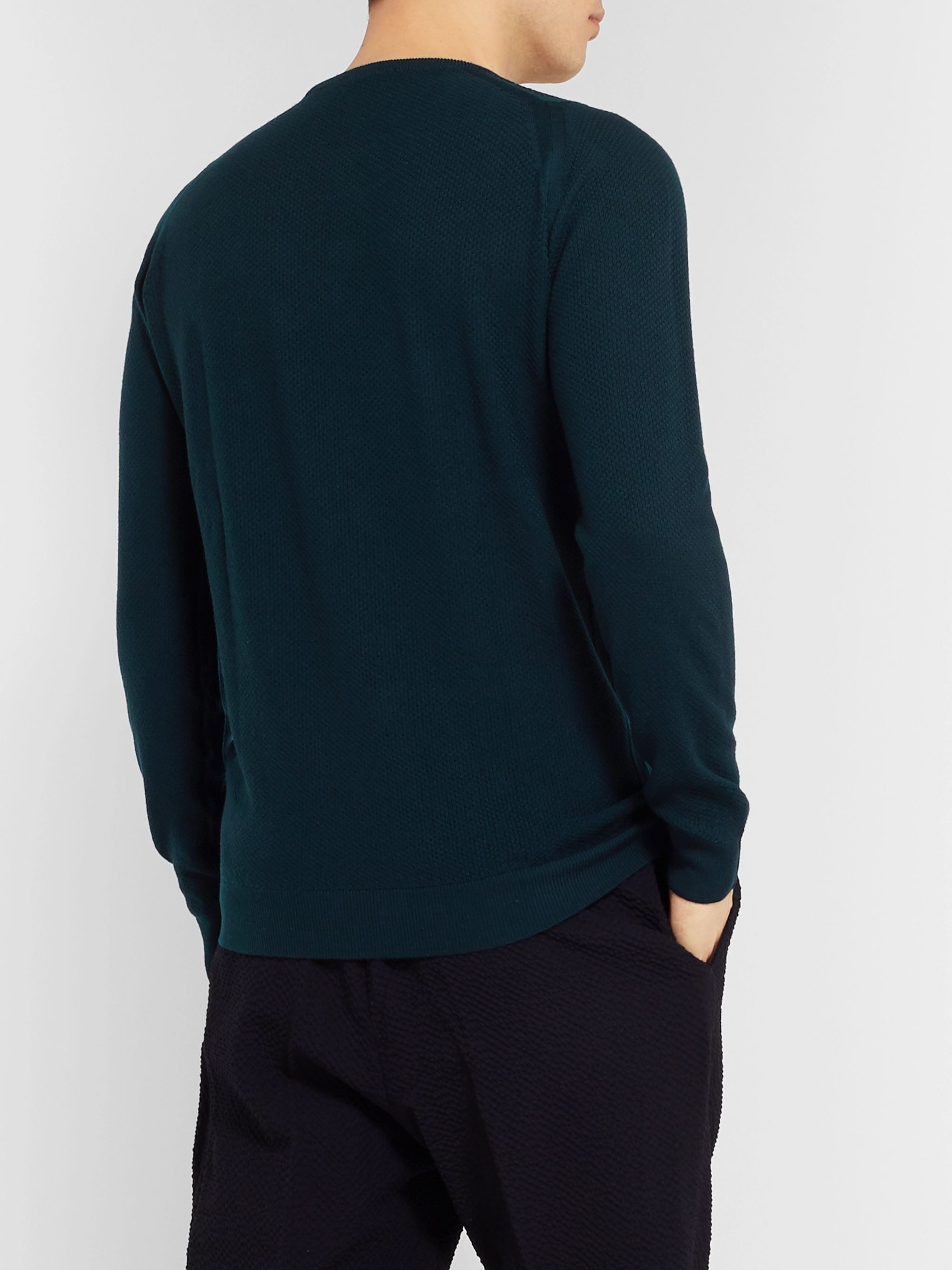 John Smedley Slim-Fit Honeycomb-Knit Merino Wool Sweater