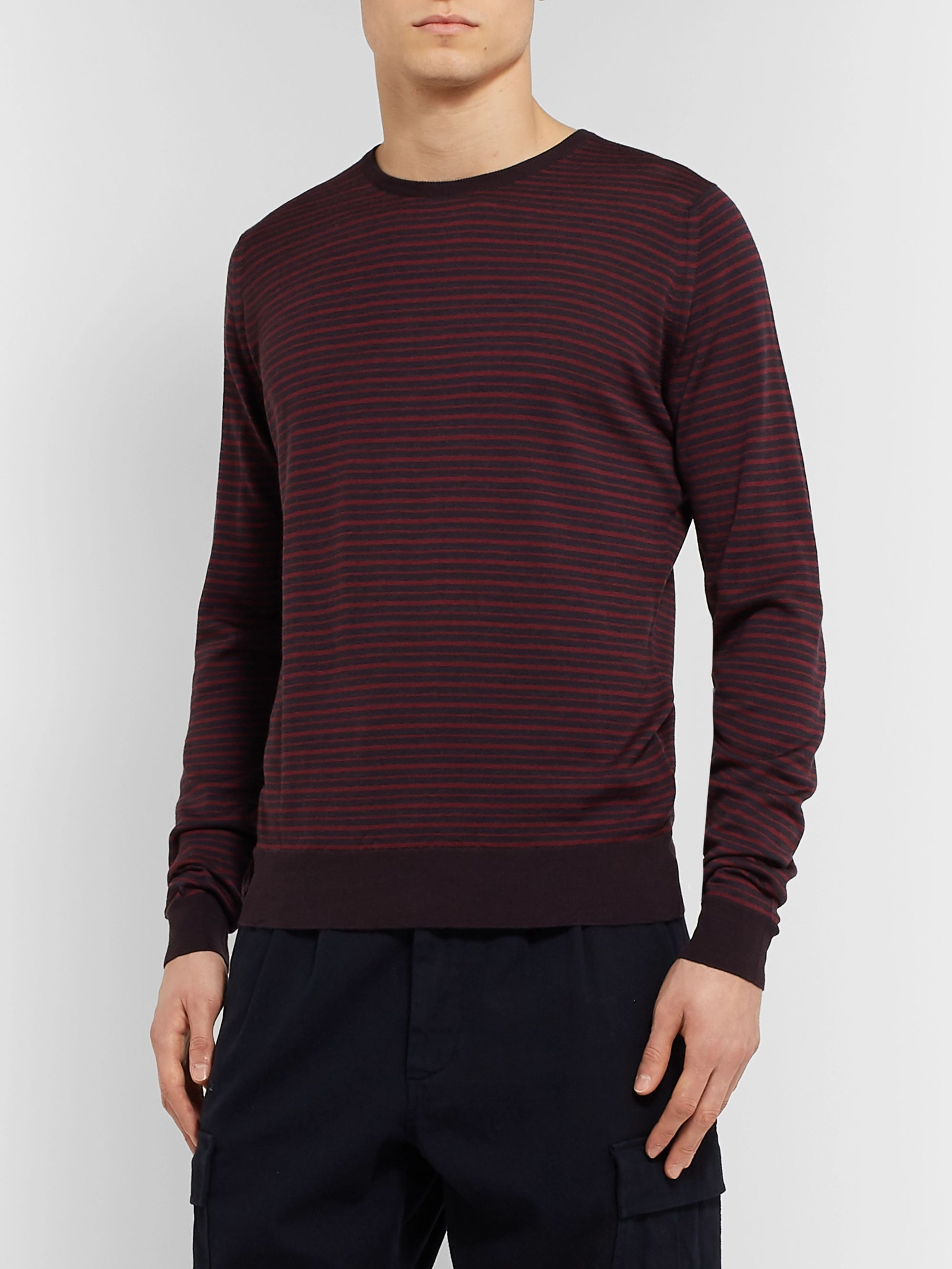 John Smedley Striped Wool Sweater