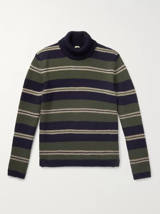 Massimo Alba Striped Wool Rollneck Sweater