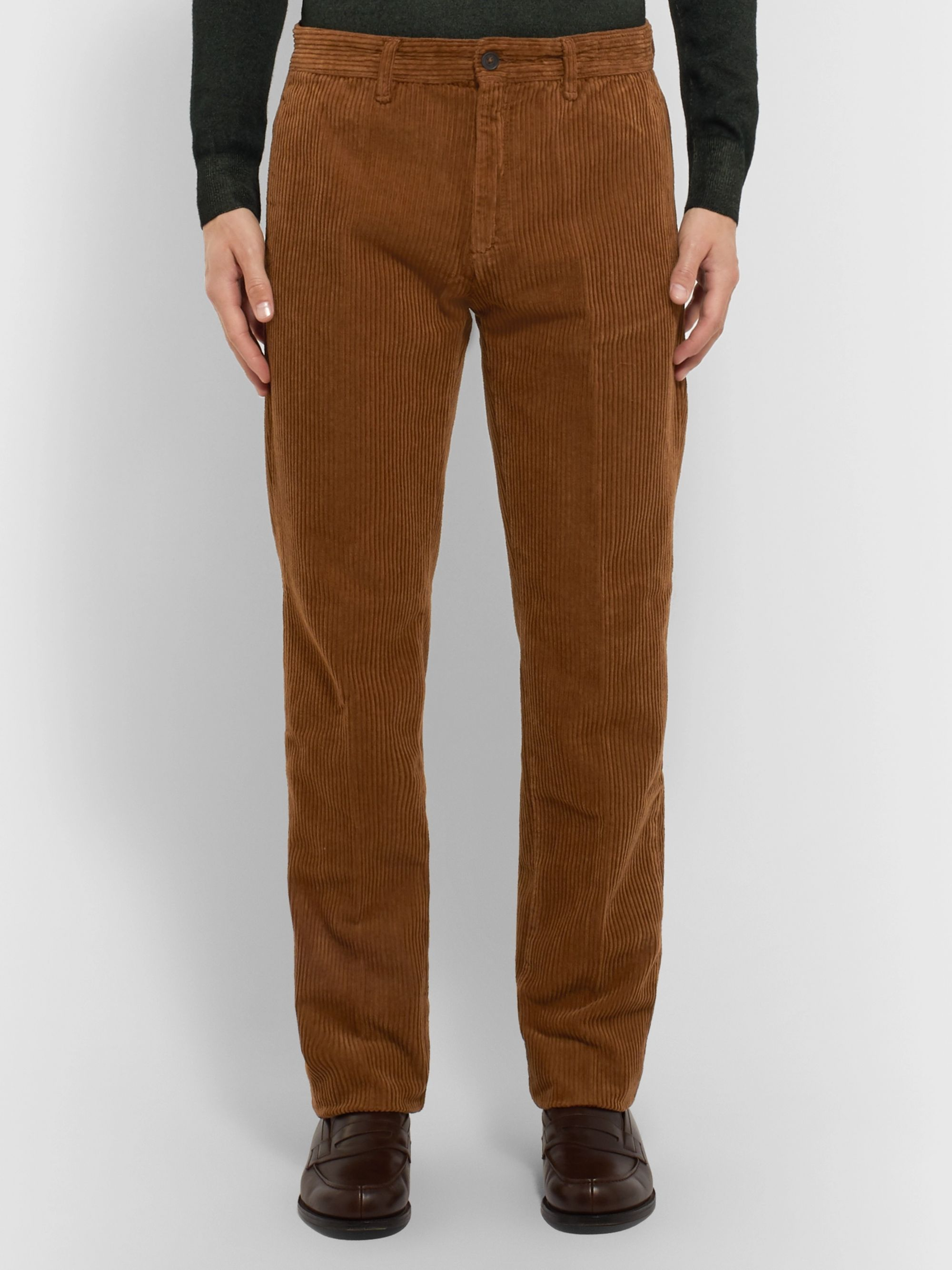 Massimo Alba Navy Cotton-Corduroy Trousers