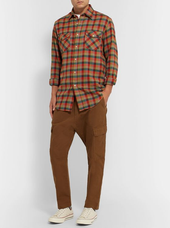Massimo Alba Checked Cotton-Flannel Shirt