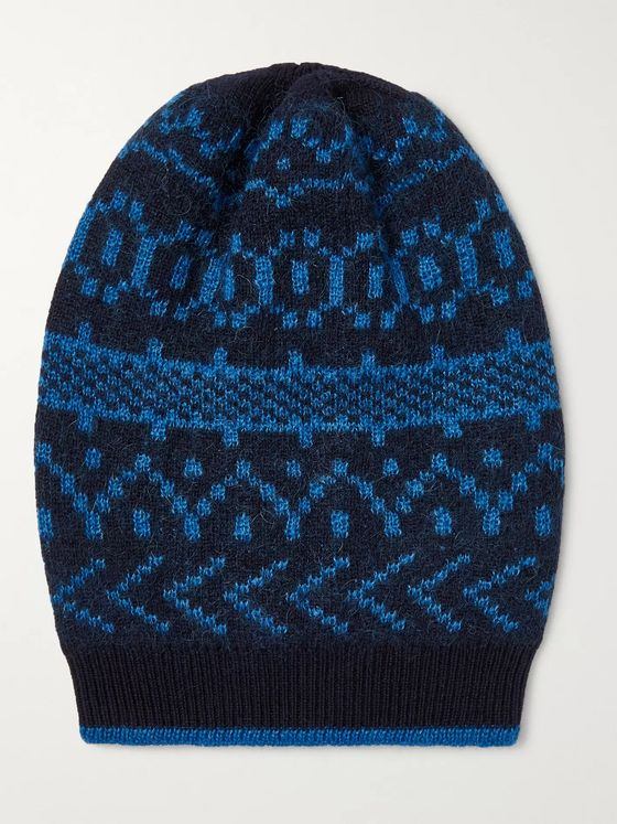 Massimo Alba Cashmere, Mohair and Silk-Blend Jacquard Beanie