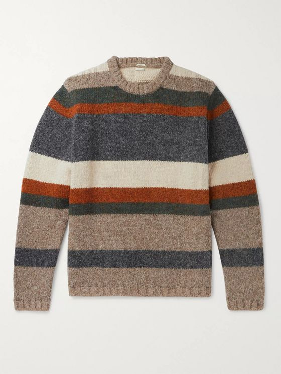 Massimo Alba Striped Wool-Blend Sweater
