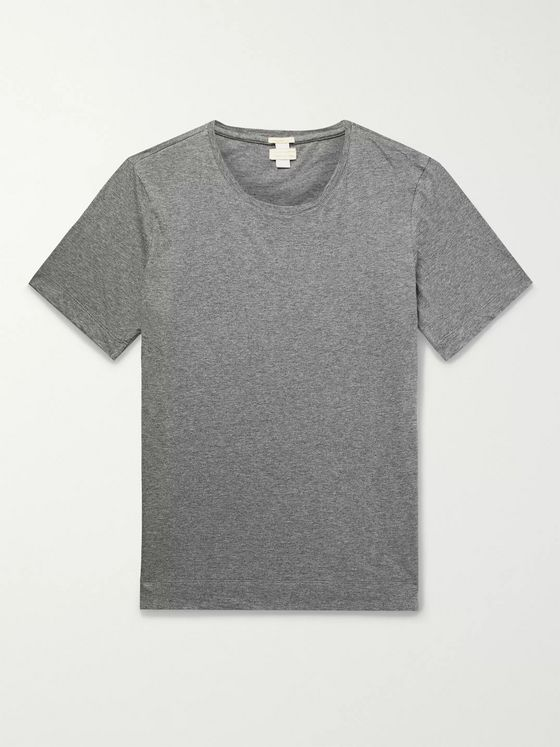 Massimo Alba Mélange Cotton and Cashmere-Blend Jersey T-Shirt