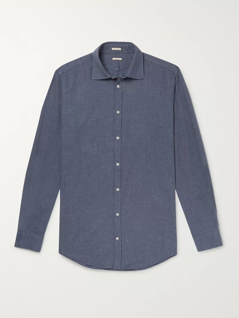 Massimo Alba Cotton-Flannel Shirt