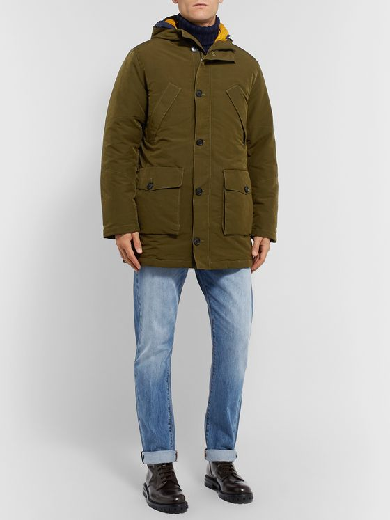 NN07 Ari Peached Twill PrimaLoft Hooded Parka with Detachable Shell Liner