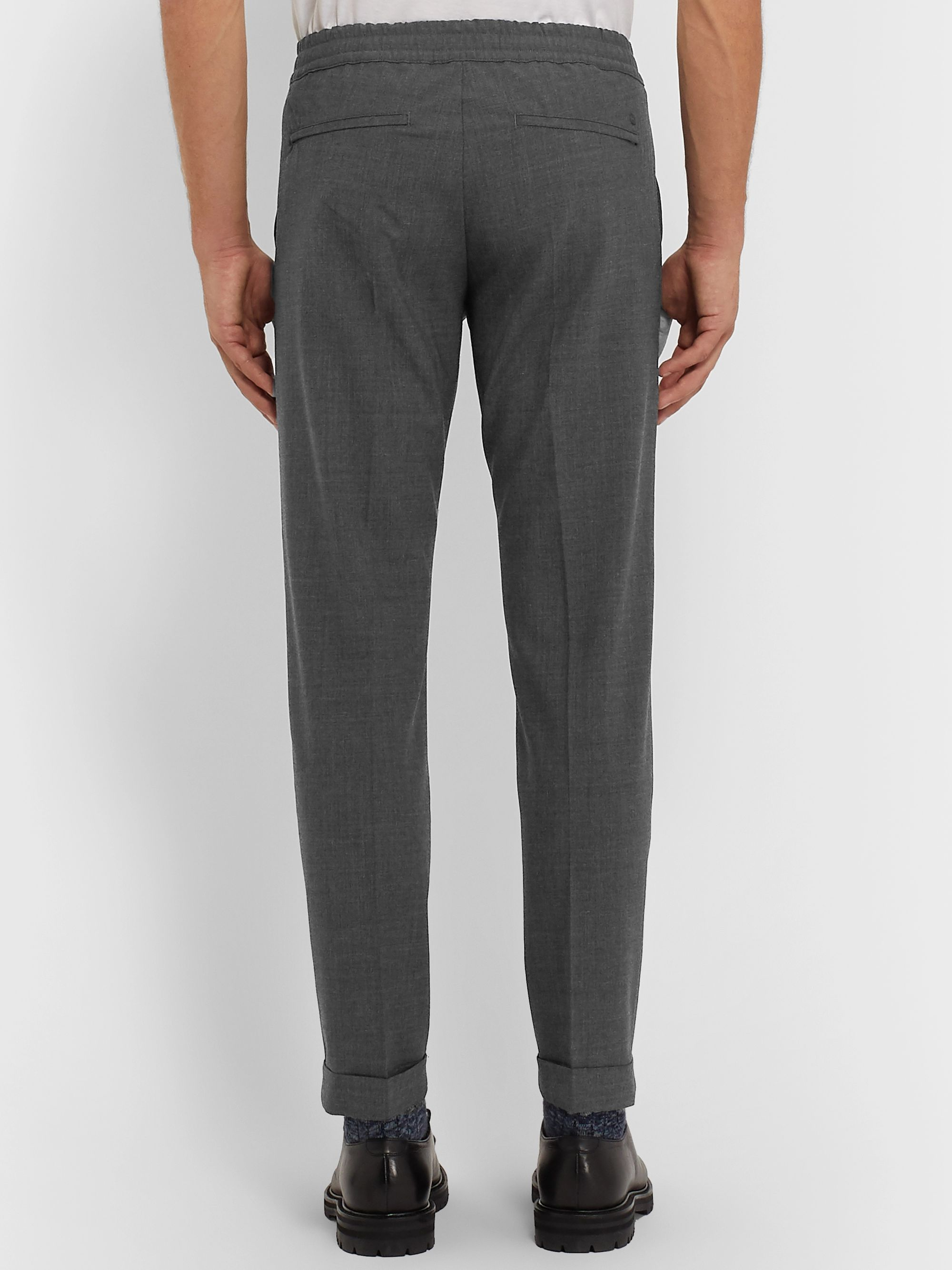NN07 Slim-Fit Tapered Cropped Woven Drawstring Trousers
