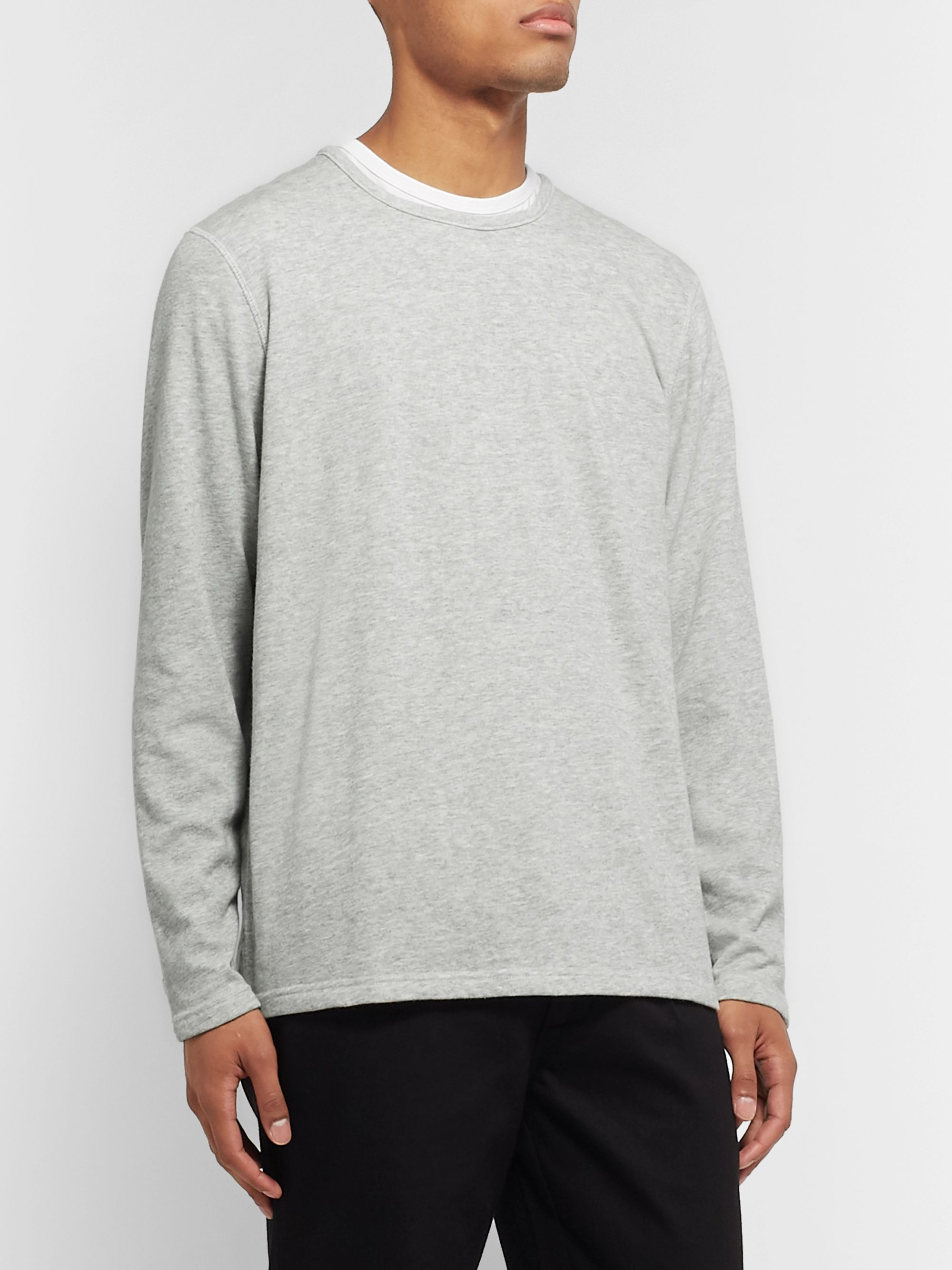 NN07 Georg Mélange Loopback Cotton-Blend Jersey Sweatshirt