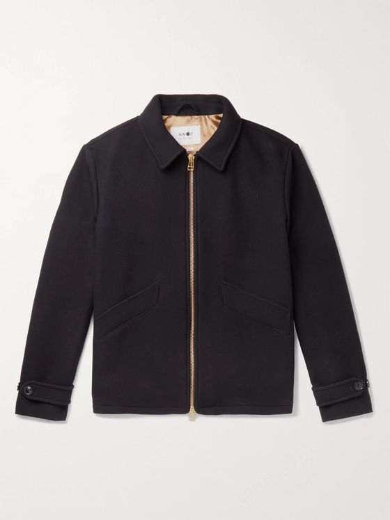 NN07 Virgin Wool-Blend Blouson Jacket