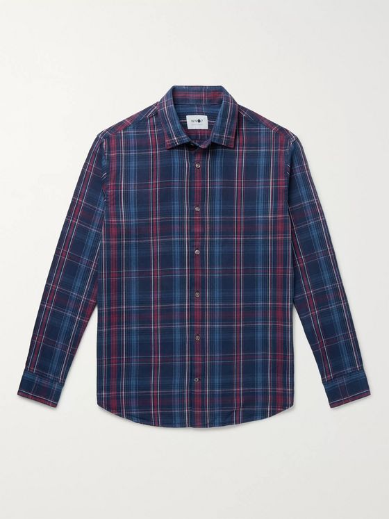 NN07 Checked Cotton-Flannel Shirt