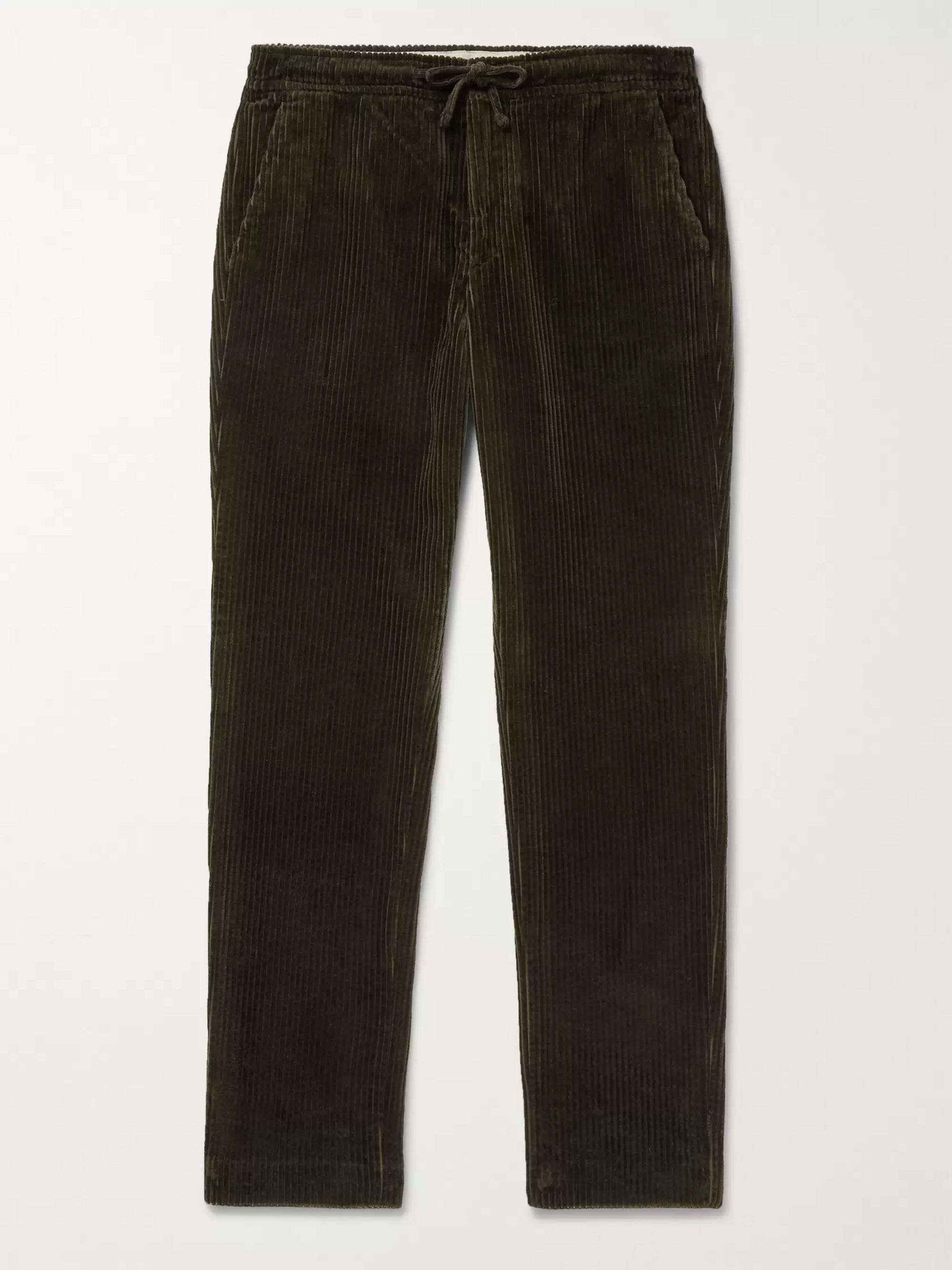 copenhagen-slim-fit-cotton-corduroy-drawstring-trousers by nn07