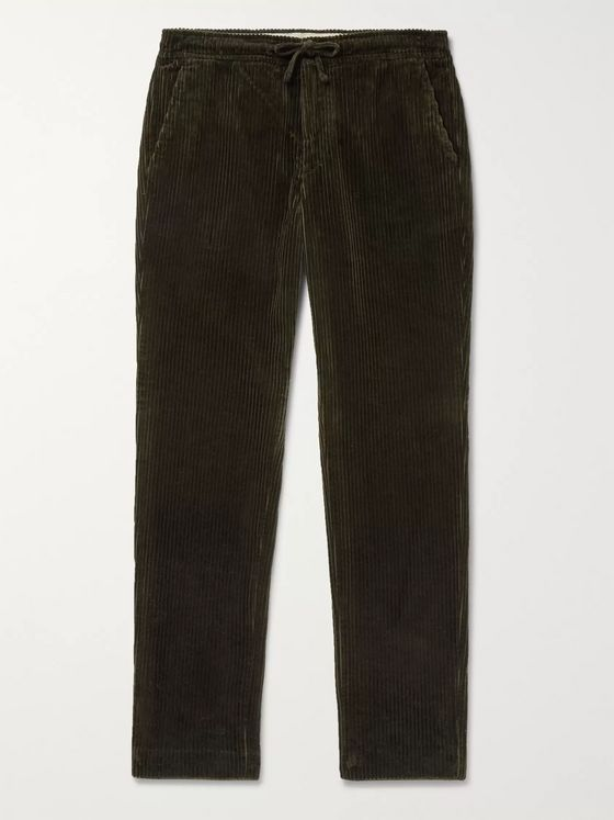 NN07 Copenhagen Slim-Fit Cotton-Corduroy Drawstring Trousers