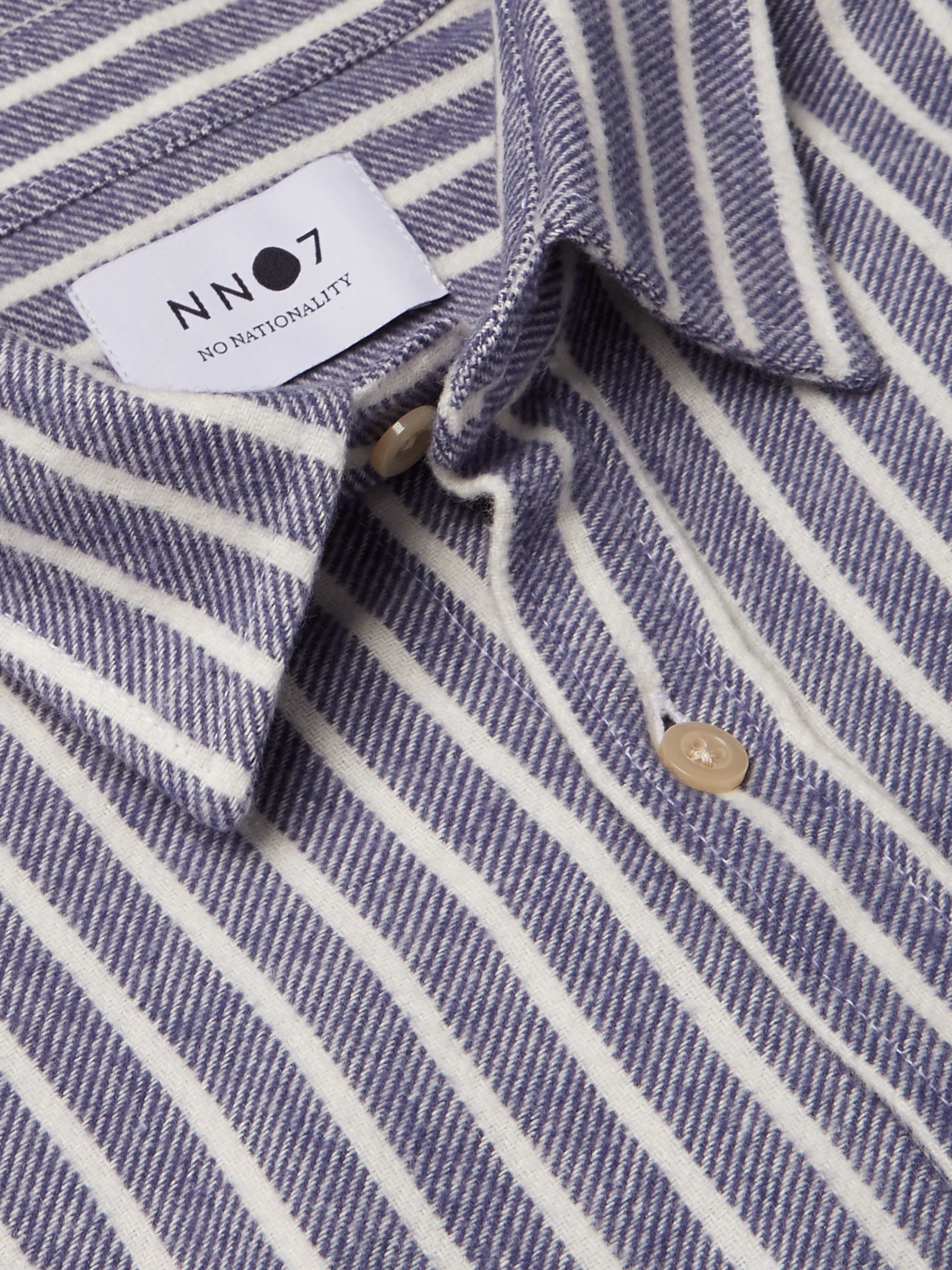 NN07 Striped Cotton-Flannel Shirt