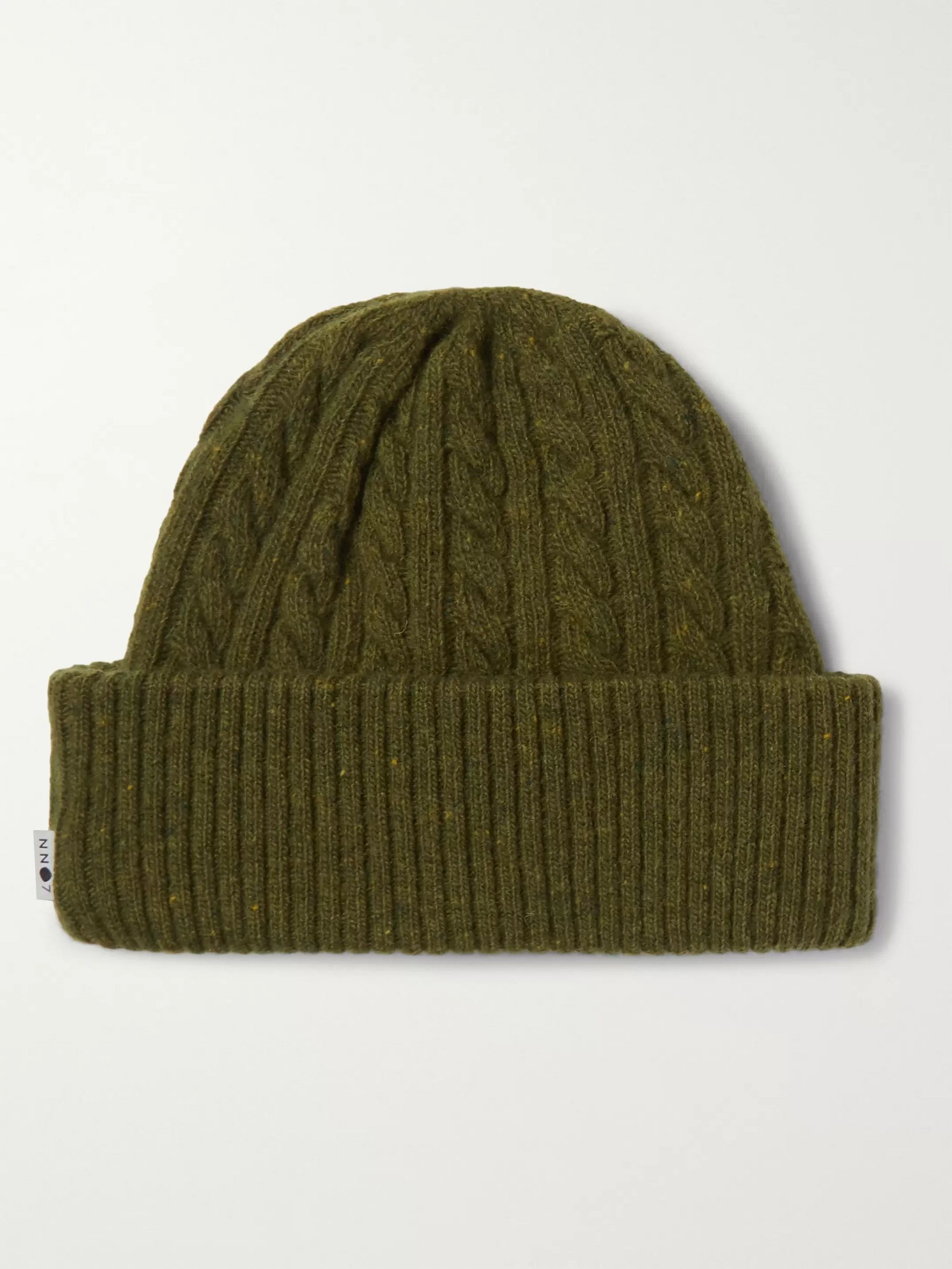 NN07 Cable-Knit Wool-Blend Beanie