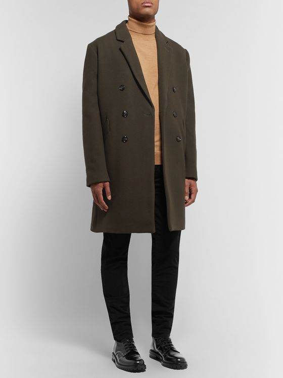NN07 Rasmus Double-Breasted Virgin Wool-Blend Overcoat