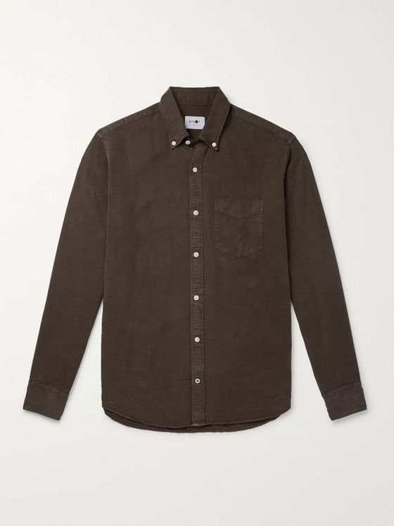 NN07 Button-Down Collar Tencel Shirt