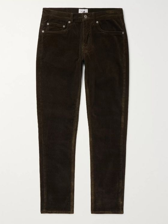 NN07 Wilson Slim-Fit Stretch-Cotton Corduroy Trousers