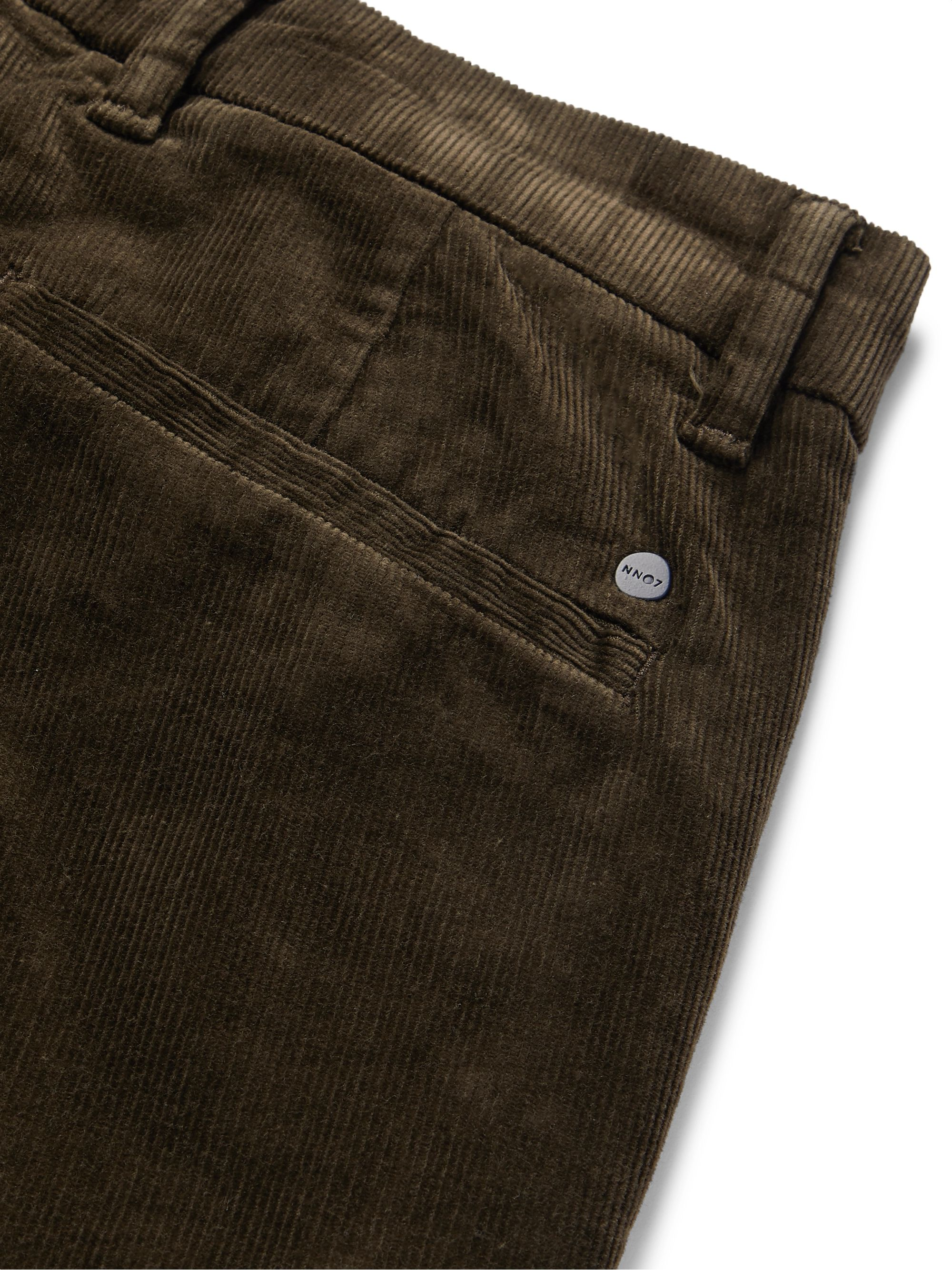 NN07 Tapered Cotton-Blend Corduroy Trousers