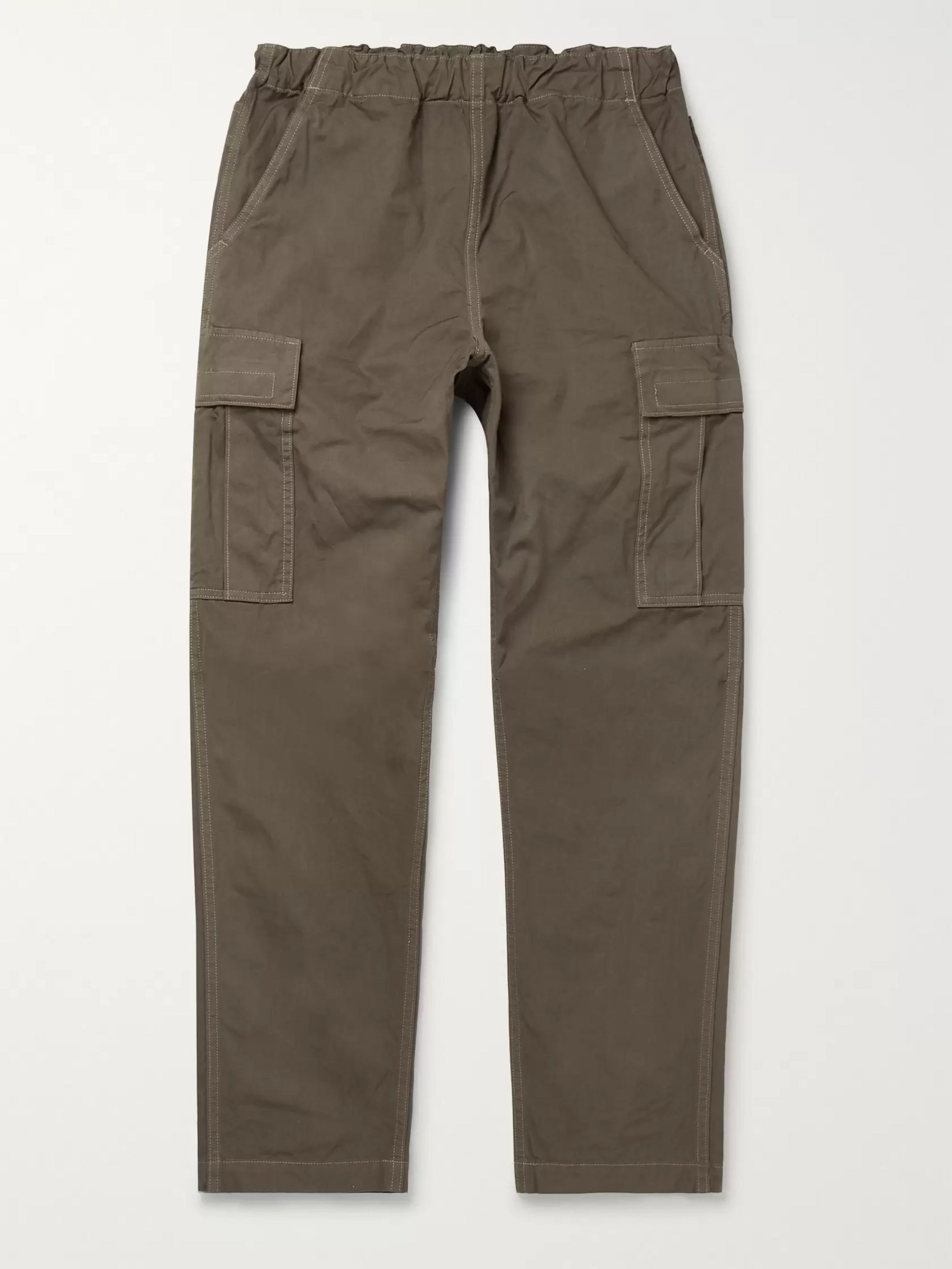 OrSlow Tapered Cotton-Canvas Cargo Trousers