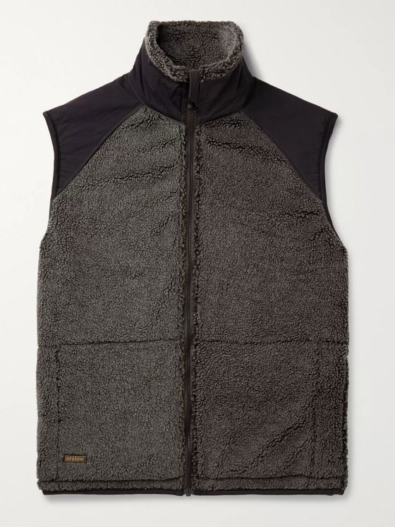 OrSlow Shell-Trimmed Fleece Gilet