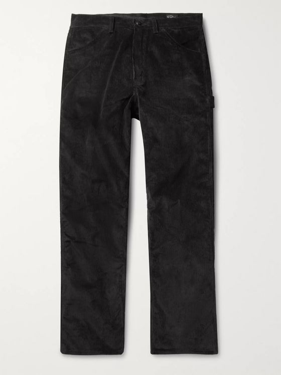 OrSlow Black Cotton-Corduroy Trousers