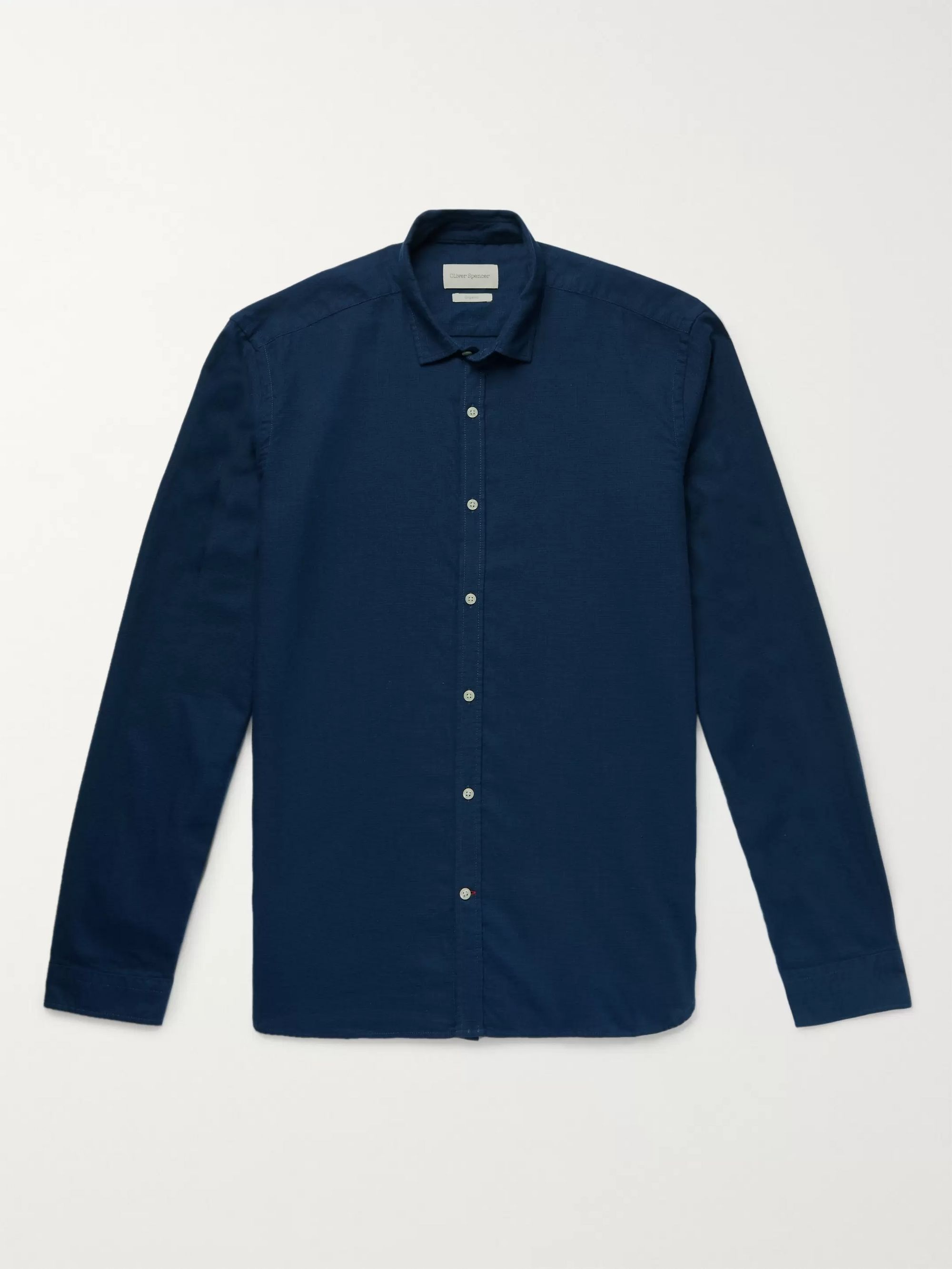 Oliver Spencer Micro-Checked Organic Cotton-Flannel Shirt