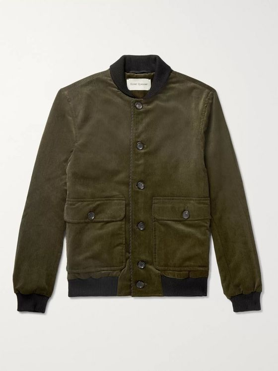 Oliver Spencer Stretch-Cotton Corduroy Bomber Jacket