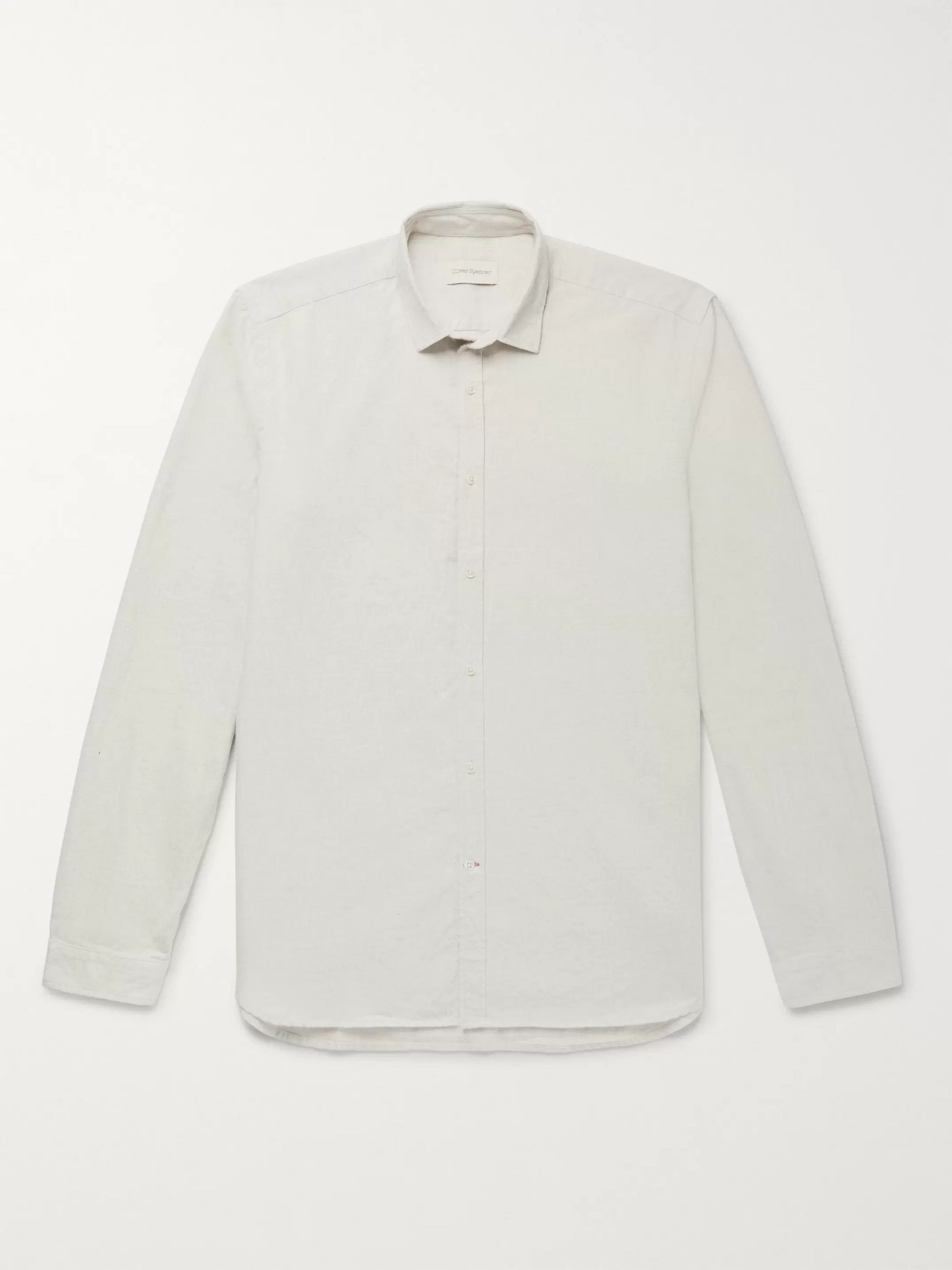 Oliver Spencer Clerkenwell Brushed-Cotton Shirt