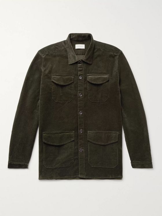 Oliver Spencer Cotton-Blend Corduroy Shirt Jacket