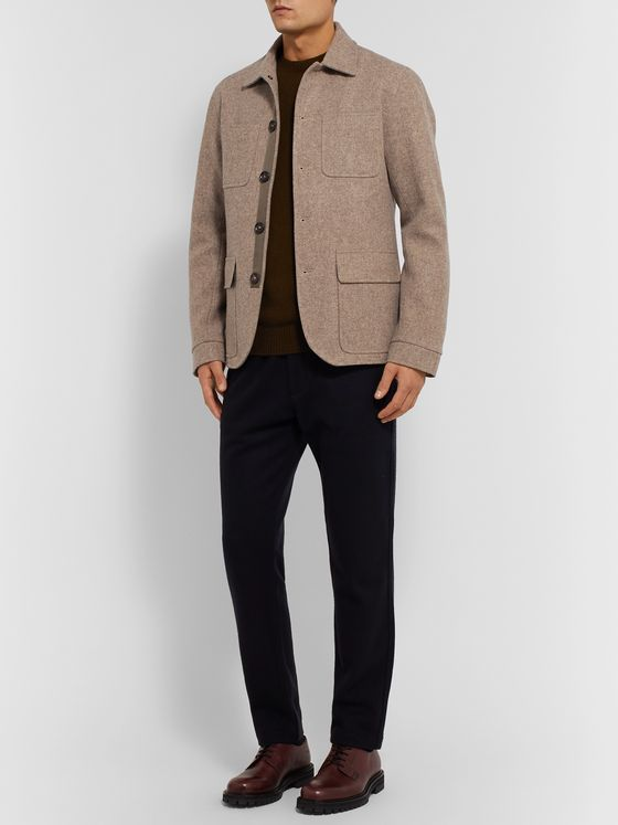 Oliver Spencer Brushed-Wool Jacket