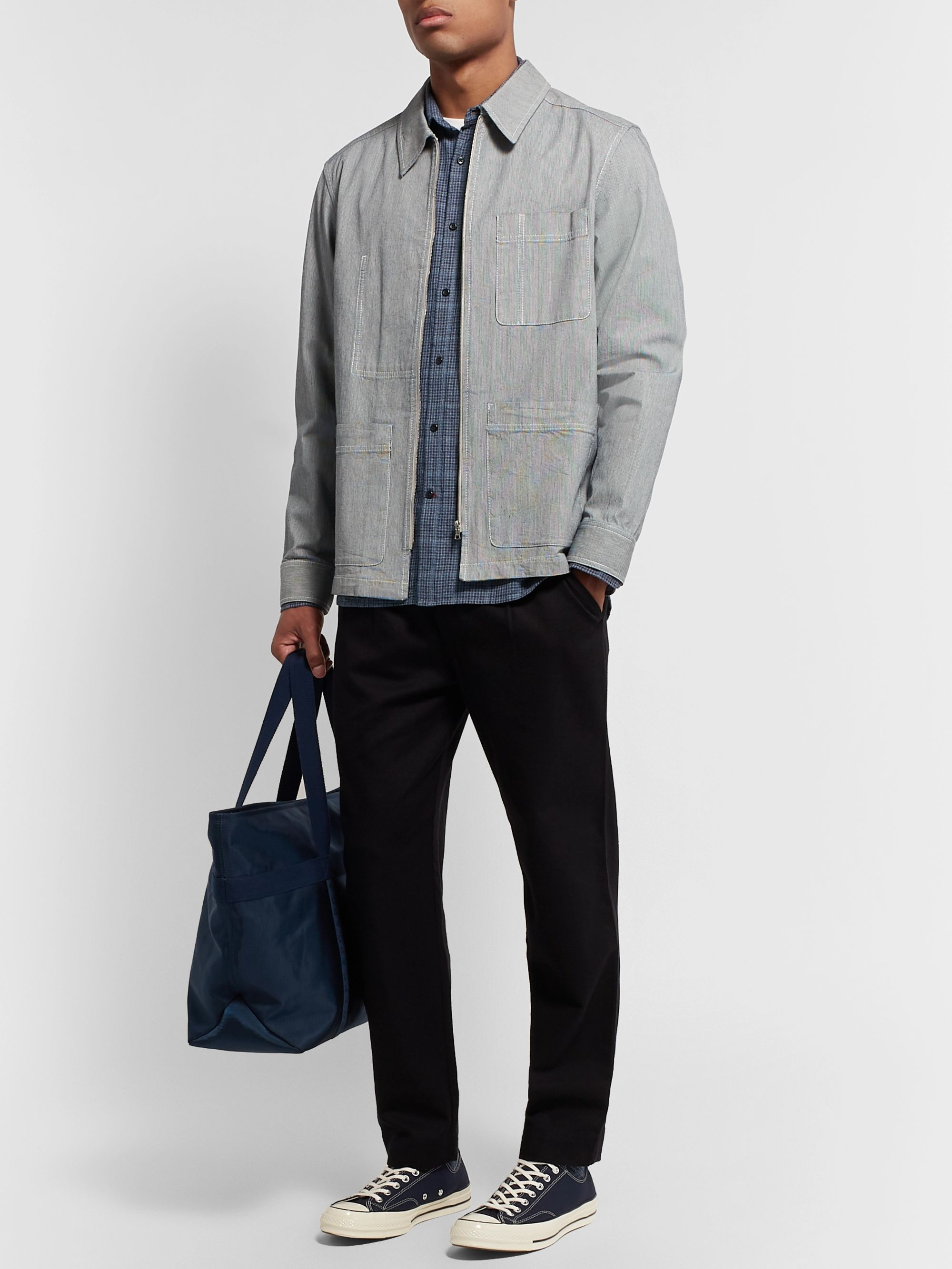 Oliver Spencer Checked Cotton-Flannel Shirt