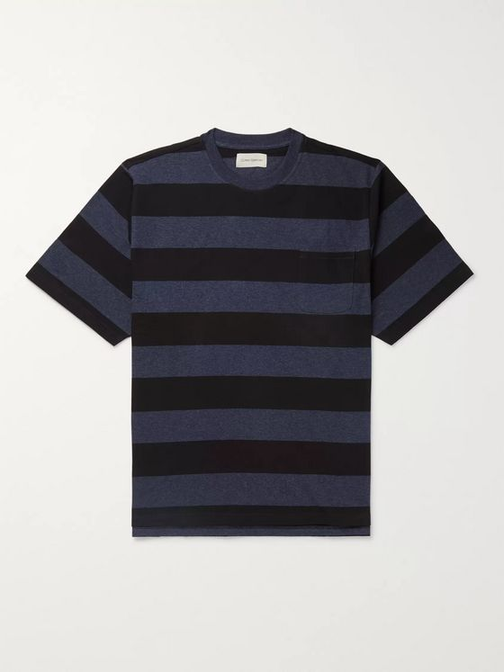 Oliver Spencer Striped Mélange Cotton-Jersey T-Shirt