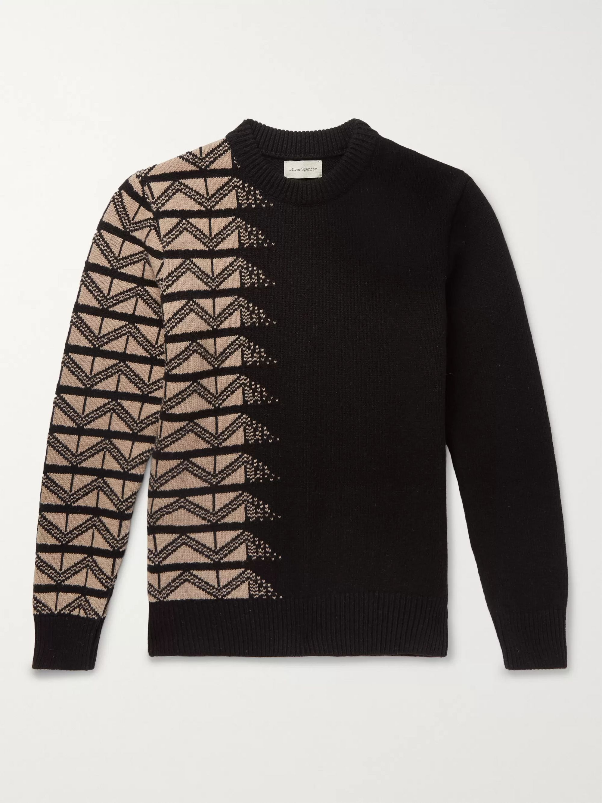 Wool Jacquard Sweater by Oliver Spencer