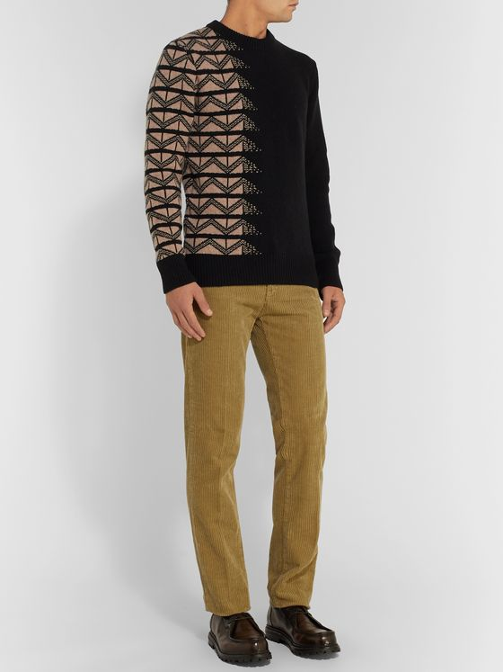Oliver Spencer Wool-Jacquard Sweater