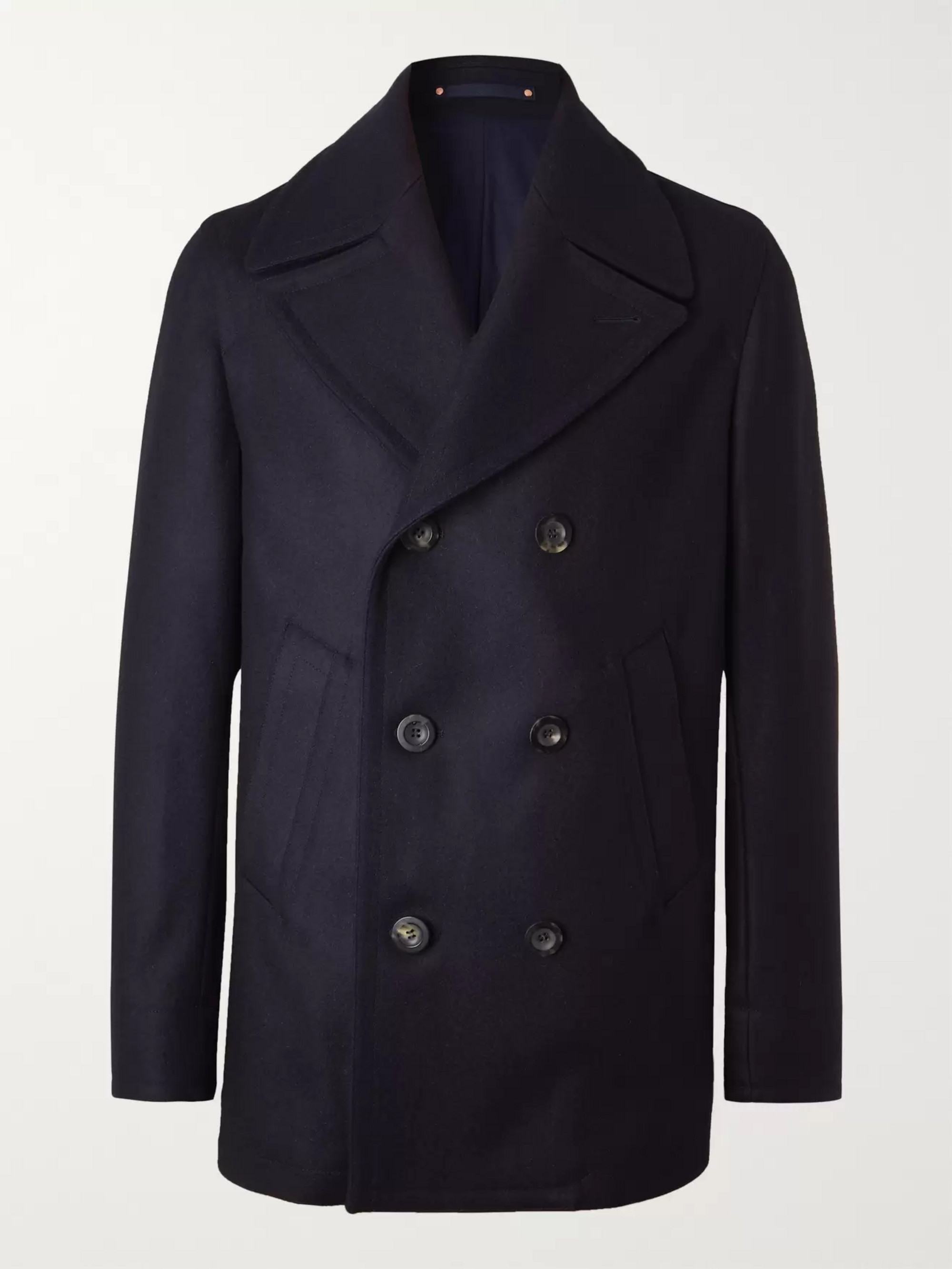 Private White V.C. Melton Merino Wool Peacoat