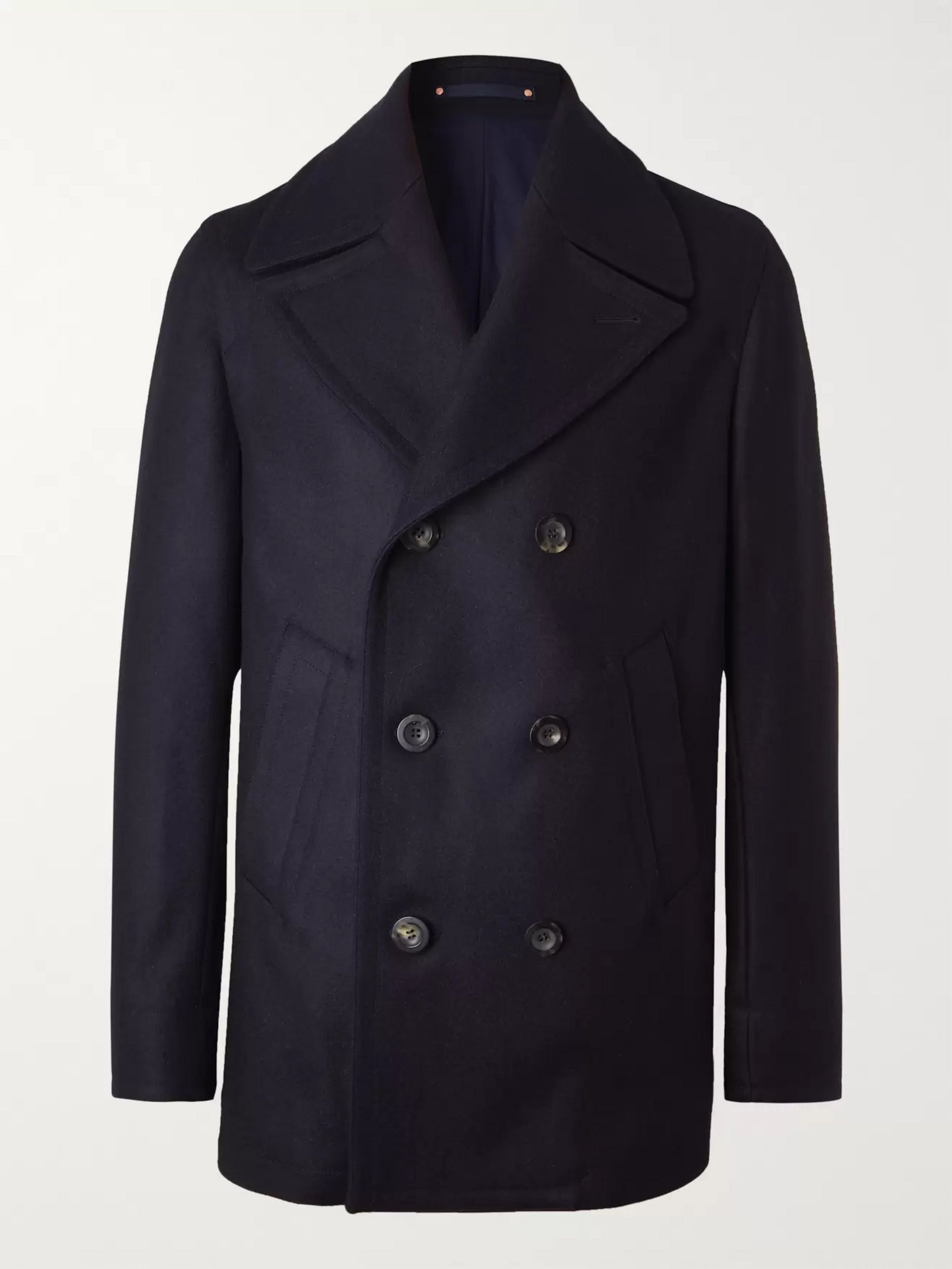Private White V.C. + Woolmark Melton Merino Wool Peacoat