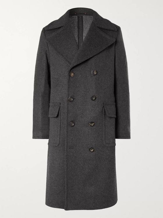 Private White V.C. + Woolmark Double-Breasted Wool and Cashmere-Blend Coat