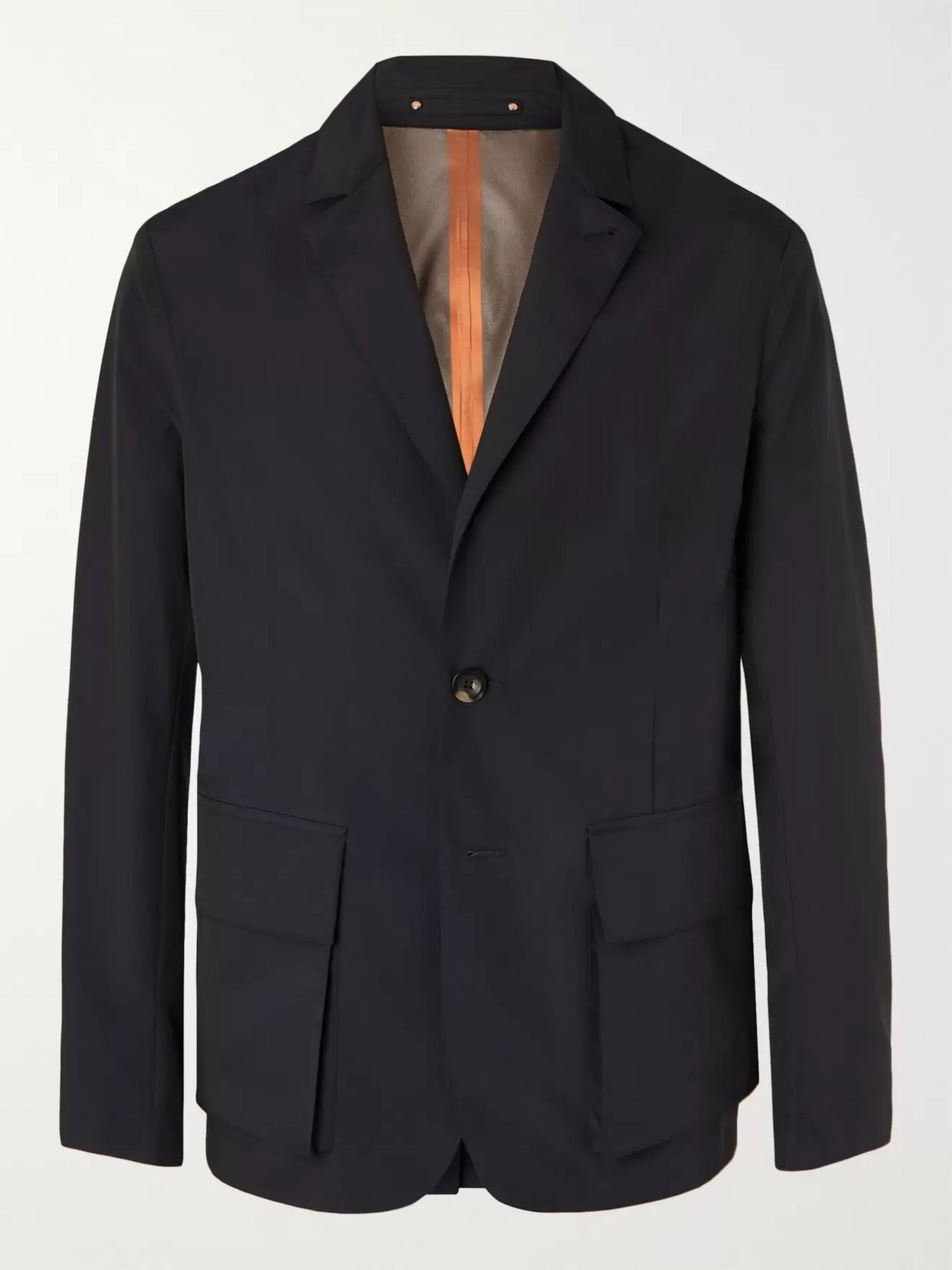 Private White V.C. Midnight-Blue Unstructured Storm System Tech Wool-Blend Blazer