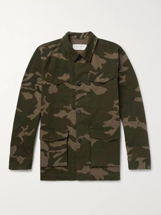 Officine Generale Camouflage-Print Cotton and Nylon-Blend Ripstop Jacket
