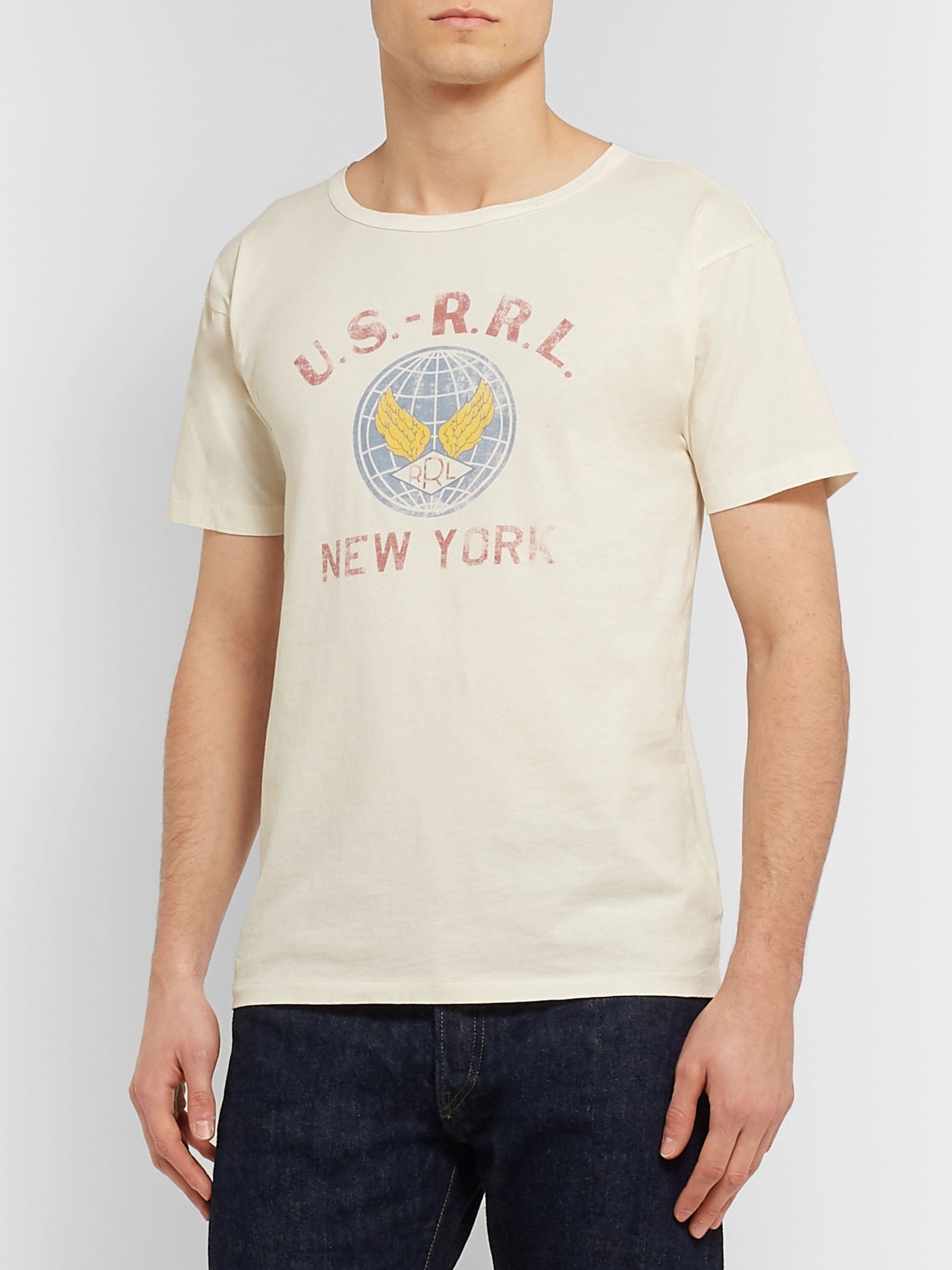 RRL Slim-Fit Printed Cotton-Jersey T-Shirt